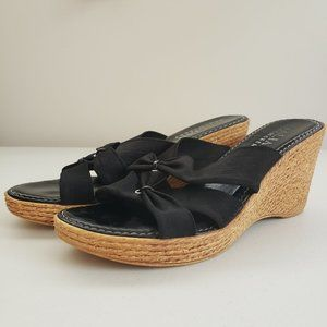 ITALIAN SHOEMAKERS Made in Italy Black Wedges 8